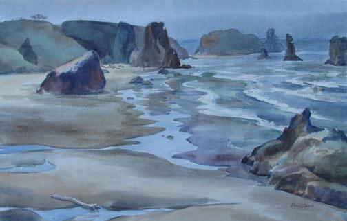 Low Tide Painting Image