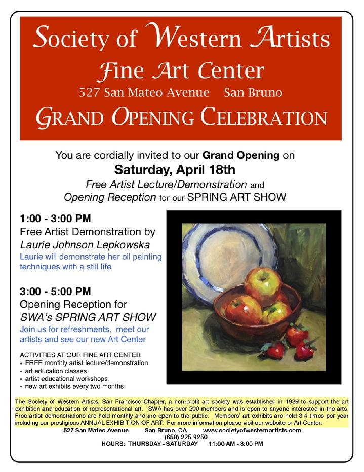 art gallery, San Mateo County Art Exhibit, arts on the Peninsula, arts in San Mateo County, Laurie Johnson Lepkowska